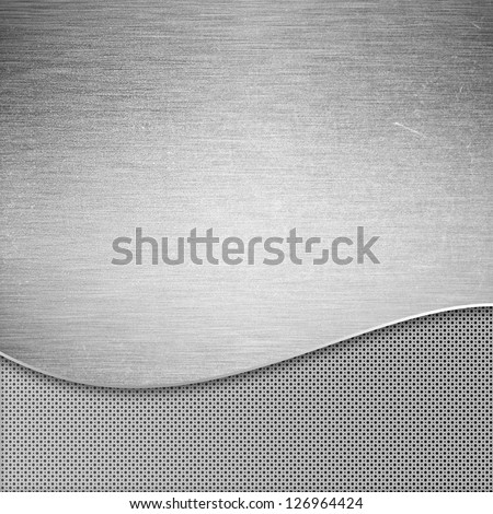 Brushed metal texture futuristic background
