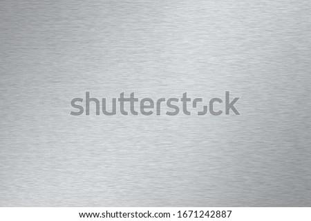 brushed steel or aluminum metal texture Stockfoto ©