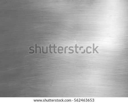 Brushed steel plate background texture