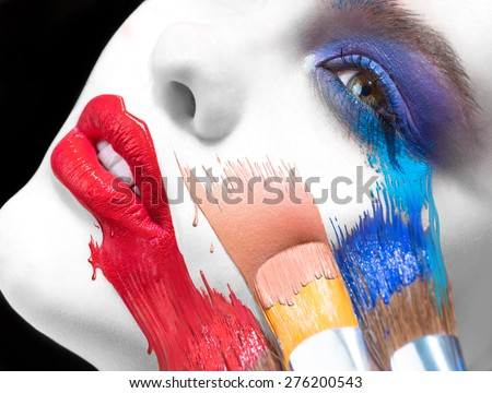 Brushes and paints Makeup