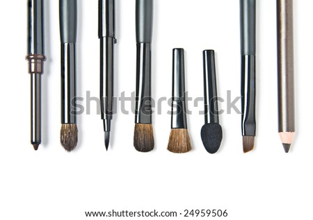 Brushes for make-up. Isolated on white background