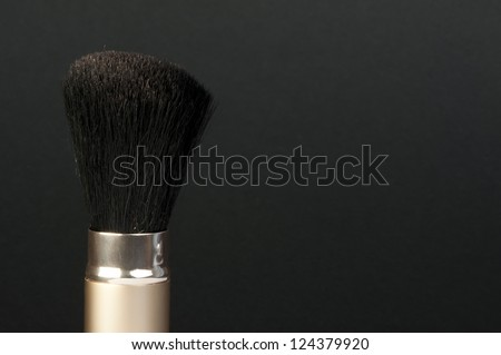 Brushes for makeup. Black isolated brush