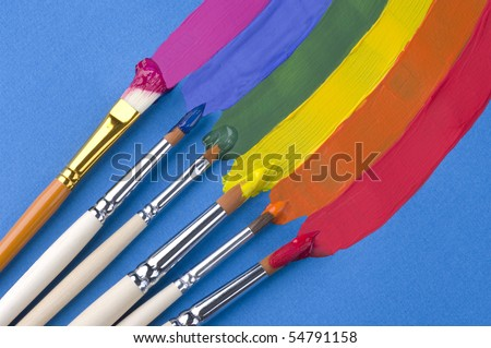 Brushies paint rainbow