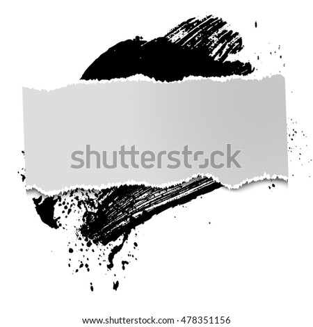 brushstroke and paper on a white background, illustration, clip-art #478351156