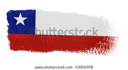 Brushstroke Flag Chile