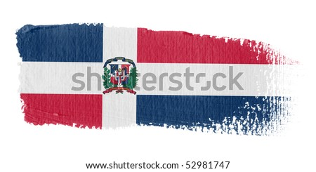Brushstroke Flag Dominican Republic