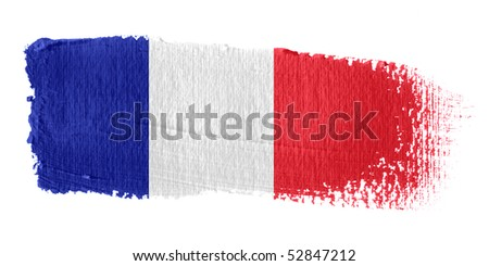 Brushstroke Flag France