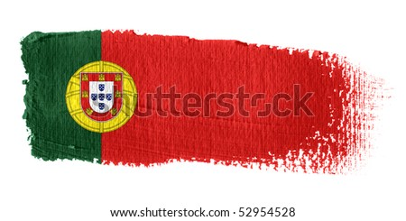 Brushstroke Flag Portugal