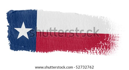 Brushstroke Flag Texas