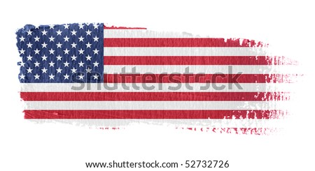 Brushstroke Flag United States