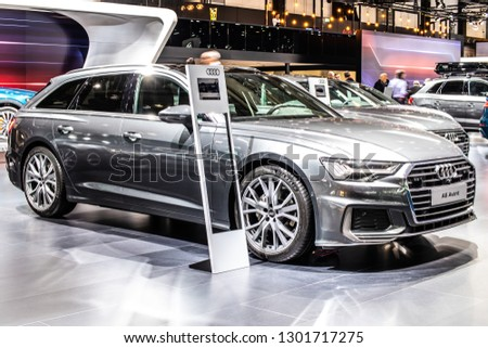 Safety Stock Brussels Belgium Jan 18 2019 Audi A6 Avant 40 Tdi