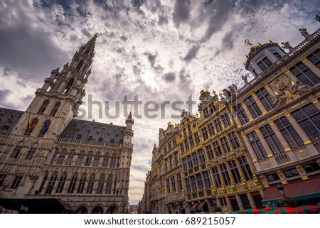 brussels city hall and brussels ...
