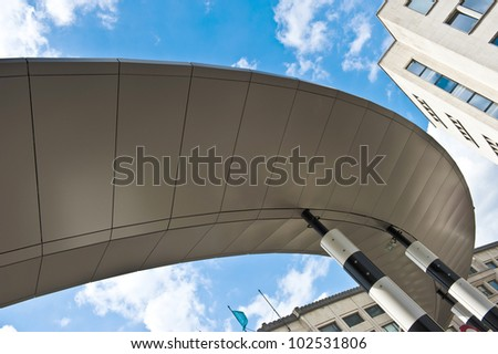 Brussels Spiral Train Rail roof.