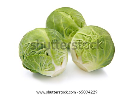 Brussels sprouts, isolated on a white background