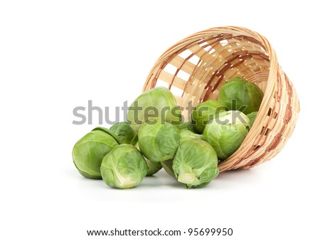 brussels sprouts isolated on white background