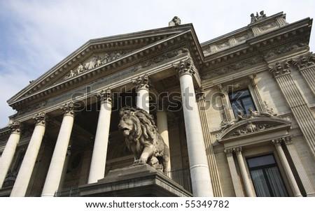 Brussels Stock Exchange in Belgium.