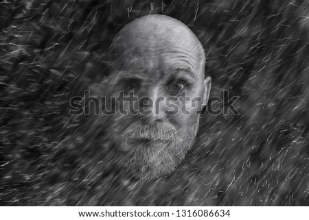 fc29e7e751d brutal hipster with a gray beard   Christmas winter portrait brutal santa  claus
