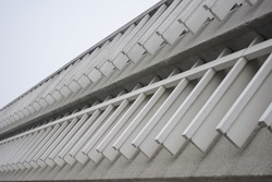 Brutalist Architecture concrete building with leading lines texture burnaby mountain university