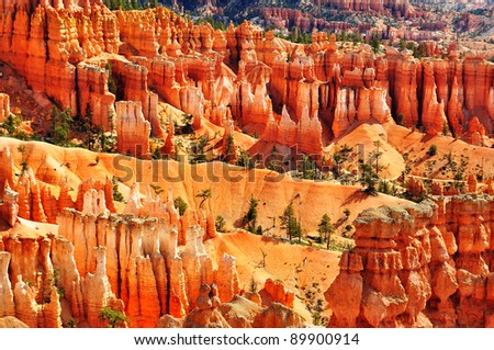 Bryce Canyon Hoodoos at sunset point, Utah, USA