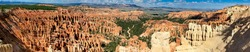 Bryce Canyon landscape on a beautiful summer day, Utah. Panoramic view.