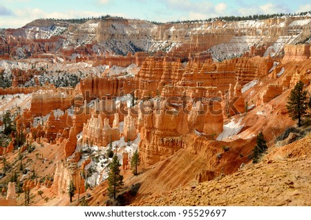 Bryce Canyon National park in spring, Utah, US