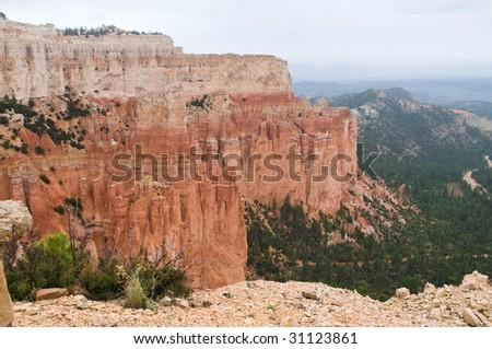 Bryce Canyon National Park in the rain, Bryce, Utah - stock photo