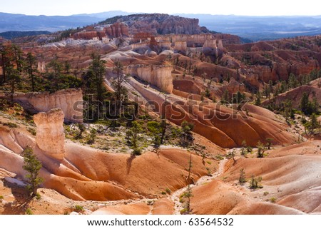 Bryce Canyon National Park is located in southwestern Utah in the United States and is distinctive due to its geological structures, called hoodoos.