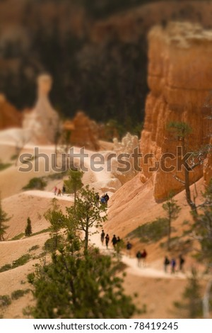 Bryce Canyon tilt-shift - stock photo