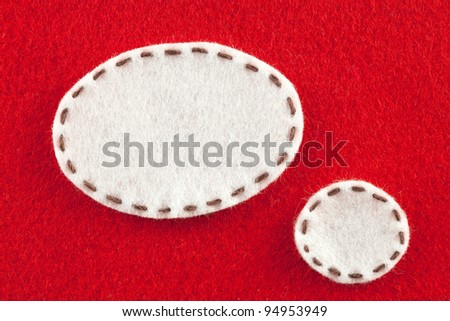 bubble fabric on red Fabric