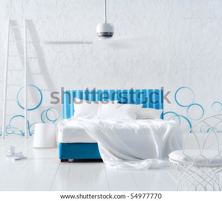 bubble minimal bedroom