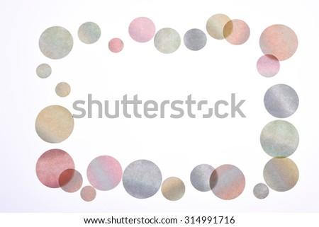 Bubble, paper, circle