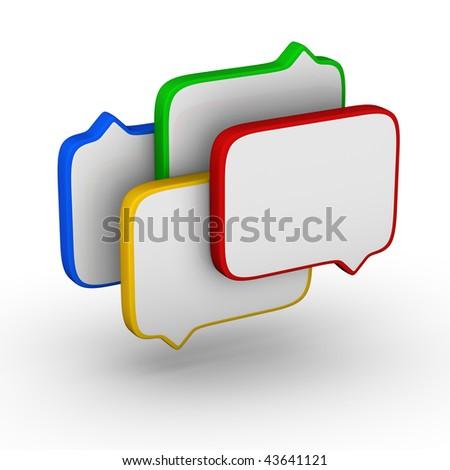 bubble speech (colorful symbol set)