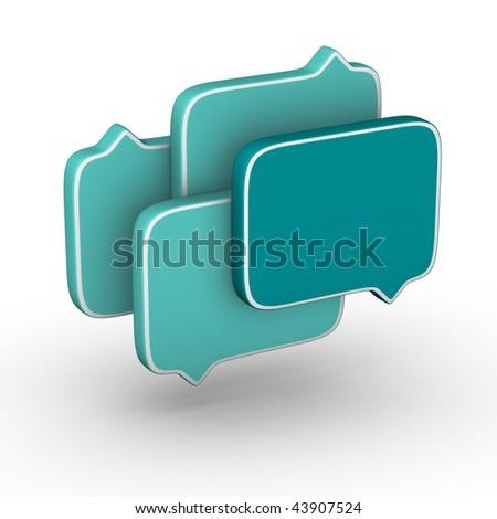 bubble speech (Turquoise symbol set)