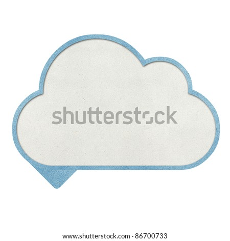 Bubble talk cloud and weather recycled papercraft background
