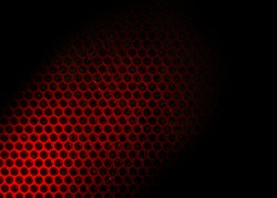 Bubble wrap lit by red light. Abstract background.