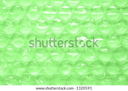 Bubble Wrap over green background