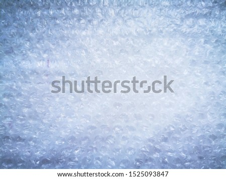 Bubble wrap. Plastic packaging material. Close-up photo. Free antistress. Abstract light, white background  #1525093847