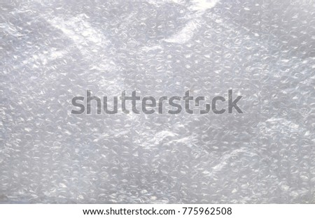 Bubble wrap texture.