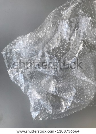 Bubble wrap wrinkled closeup image