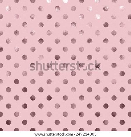 Bubblegum Pink Metallic Foil Polka Dot Pattern Swiss Dots Texture Paper Color Background
