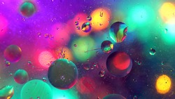 Bubbles and Lights Colourful Background Texture