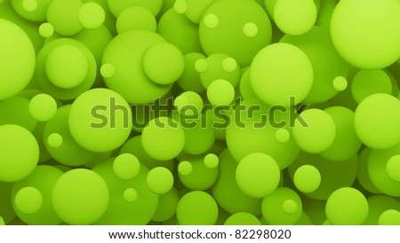 bubbles 3d  abstract background green