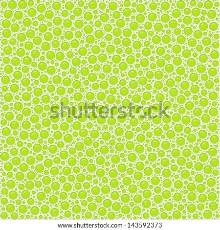 Bubbles, green abstract background