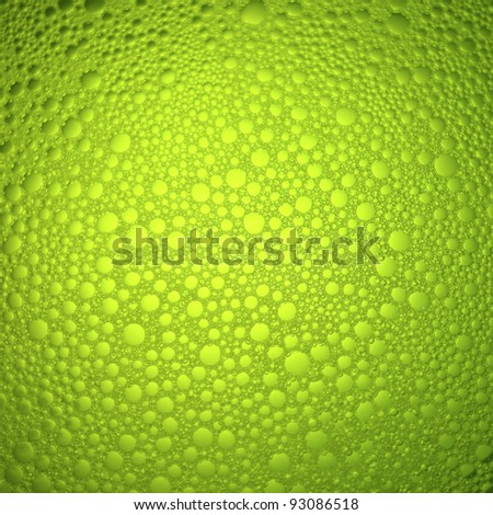 Bubbles, green abstract background.