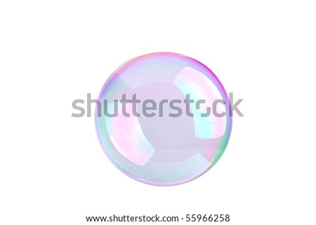 Bubbles isolated on a white background