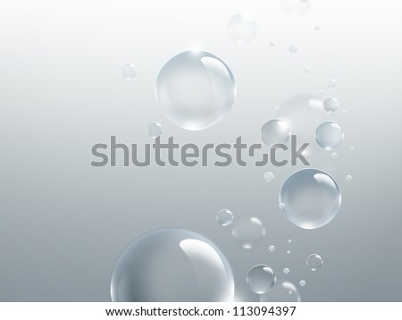 bubbles on a light gray background