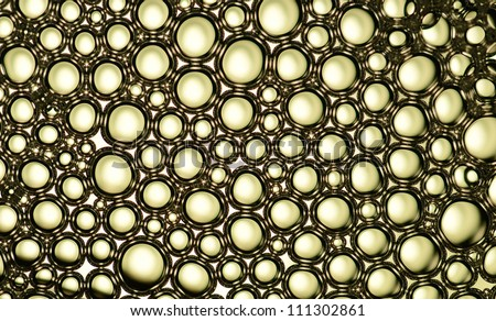 bubbles on a water surface