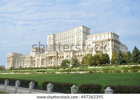 Bucarest - Parliament Palace Foto stock ©