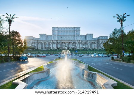 bucharest parliament with...