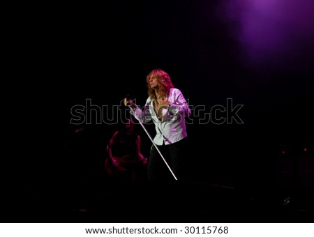 BUCHAREST, ROMANIA - JULY 8 : Whitesnake performs at Romexpo July 8, 2008 in Bucharest.